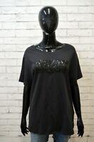 LEVIS Donna Polo Maglia Taglia 2XL Camicia Maglietta Shirt Women Cotone Nero