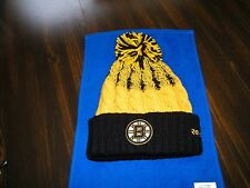 BOSTON BRUINS CUFFED KNIT REEBOK HAT WITH POM, FACE OFF COLLECTION,NWT,BOBBY ORR