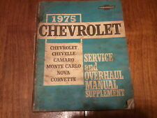 1975 Chevrolet Service and Overhaul Manual Supplement .