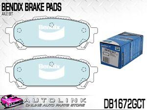 BENDIX REAR BRAKE PADS FOR SUBARU FORESTER SG 2.5L TURBO 2003-2008 DB1672GCT