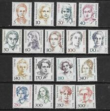 Germany Berlin 1986 - 89 Famous Women Definitives set of 17, MNH / UNM Cat £90