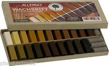ALLENDO Set mit 21 Wachskitt-Stangen à 7 g lose, 147 g Sparpack - erle, weiß etc