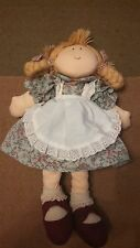 The Boyds Collection plush doll 2001 braids pig tails apron dress