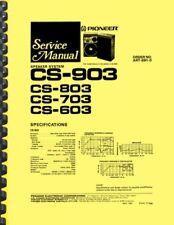 Pioneer CS-903 Speakers SERVICE MANUAL