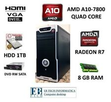 PC DESKTOP GAMING ASSEMBLATO AMD A10 7800 QUAD CORE HDD 1TB - 8GB RAM RADEON R7