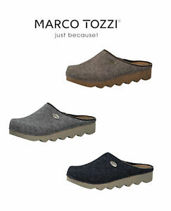 MARCO TOZZI 27500 Ladies Felt Clog Mule Slippers wiith Leather insole