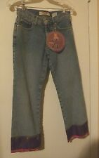 NEW PARIS BLUES ORIGINALS JEANS BEADED BOHO BLUE Denim JUNIOR Pants Size 3