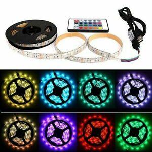 1M-5M SMD 5050 RGB LED Strip Light RGB Colour Changing USB Home Decorations