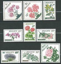 Monaco - 1959 - Fleurs - N° 514 à 522  - Neufs ** - MNH