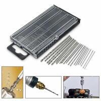 20PC Mini Tiny Micro HSS Spiralbohrer Set 0,3 mm-1,6 Y0C0 Handwerk Modell F M7V2