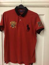 Ralph Lauren Para Hombres Rojo Big Pony Polo Camisa Tamaño Grande De Ajuste Personalizado
