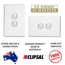 Clipsal Classic 10A 2 Gang Light Switch C2032VA / HA