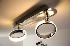 Plafonnier LED Design Lampe à suspension Lustre 2 spots de plafond Chrome 128663