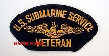 US NAVY OFFICER SUBMARINE SERVICE VETERAN PATCH USN USA NAVAL BASE UNDERWATER!!!
