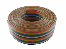 15ft 20 Way Flat Color Rainbow Multicolor Ribbon Cable Wire 28 AWG