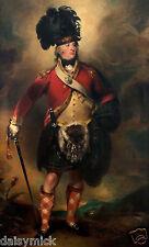 "Francis Humberston Mackenzie Baron Seaforth 78th Reg of Foot 1793 6x5"" Print"