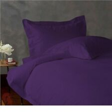 800 TC EGYPTIAN COTTON BEDDING DUVET COVER+ FITTED SHEET+ PILLOW CASE PURPLE