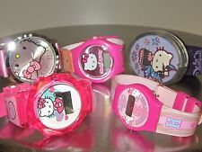 LOT OF 5 HELLO KITTY WRIST WATCHES 0524B
