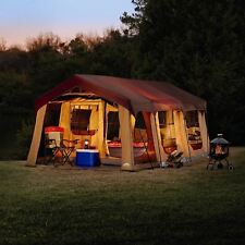 Front Porch Cabin Tent 10 Person 2 Rooms Canopy Camping Large Family Backyard