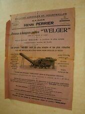Prospectus Tracteur Presse WELGER  Tractor Traktor Brochure  Prospekt Trattore