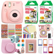 Fuji Instax Mini 8 Fujifilm Instant Film Camera Pink + 40 Film Deluxe Bundle