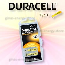 6 Duracell Hörgerätebatterien Easytab TYP10 Hörgerät