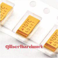 10pcs Tantalum chip capacitors 16V 100UF 6032 accuracy 10%