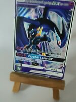 Shadow Mewtwo and Crypto Lugia Pokemon GX Team Custom Card In Partial Holo Proxy