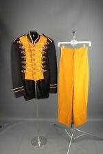 Vtg 1940s Marching Band Uniform Jacket Xxs Pants 23x23.5 #7033 40s Brass Buttons
