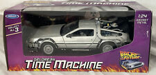 New ListingDeLorean Time Machine Back to the Future 1:24 Welly Diecast Model New Sealed