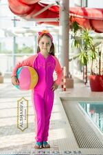 Modest Girl Swimsuit Full Coverage | Long Pants | Kids Swimwear Size 24, 26, 28