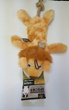 Endangered Species African Lion Stuffing Free Dog Toy ~ Squeaks And Crinkles
