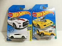2 Hot Wheels Cars Tooned Charger Treasure Hunt & 17 Nissan GT-R R35 White 50th