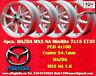 4 Cerchi Mazda MX5 NA 1.6 Minilite 7x15 4x100 ET35 Wheels Felgen  Llantas Jantes