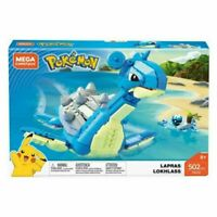 "Mega Construx Pokemon Lapras FWJ49 8"" 502 pcs New - S2"