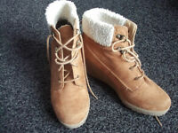 New look wedge boots size 4 COLLECT ONLY