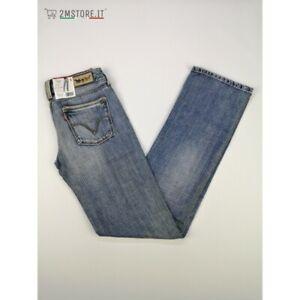 LEVI'S jeans LEVIS 570 Blu Wash Classico STANDARD FIT Dritto VITA BASSA VINTAGE