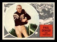 PAUL DEKKER 1960 TOPPS CFL 1960 NO 32 EXMINT+ 21844