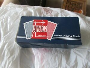 Card Games/Poker , Aviator Jumbo Index Playing Cards ,Used Once ,Box of 12 Decks