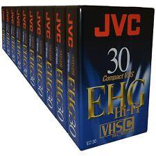 10 JVC cintas VHS-C para sonido de alta calidad de imagen & Hifi Compacto Videocámara Video