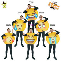 Emoji Costume Adult Unisex Funny Emoticon Costumes Halloween Party Fancy Dress