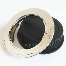 EMF AF Confirm Contax Yashica CY Lens to Canon EOS EF Adapter 550d 350d + cap