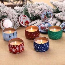 Tin Smokeless Fragrance Aromatherapy Candle Natural Soy Wax Christmas Home Decor