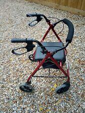 Folding  Lightweight Rollator Mobility Walker 4 Wheel Walking Aid with Seat