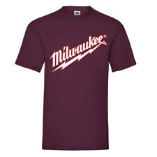 milwaukee t-shirt black white logo power tool work wear new