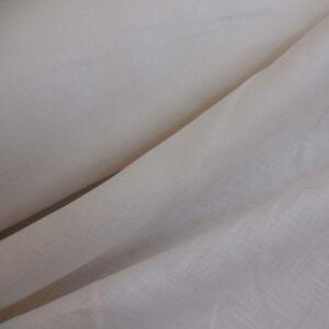 Leinwand 100% Leinen wollweiß gebleicht 300 cm breit 510 g/lfm, auch halbe Bahn