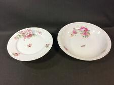 2er satz -schalen tafelgeschirr aus keramik dekor blumen vintage