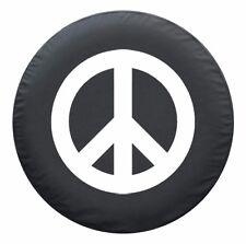 "29"" Peace Sign Tire Cover - White - Jeep Wrangler TJ - USA"