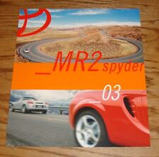 Original 2003 Toyota MR2 Spyder Sales Brochure 03