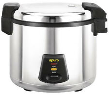 Apuro Commercial Rice Cooker 6Lt dry, 13Lt/52 Portion Cooked Restaurant Catering